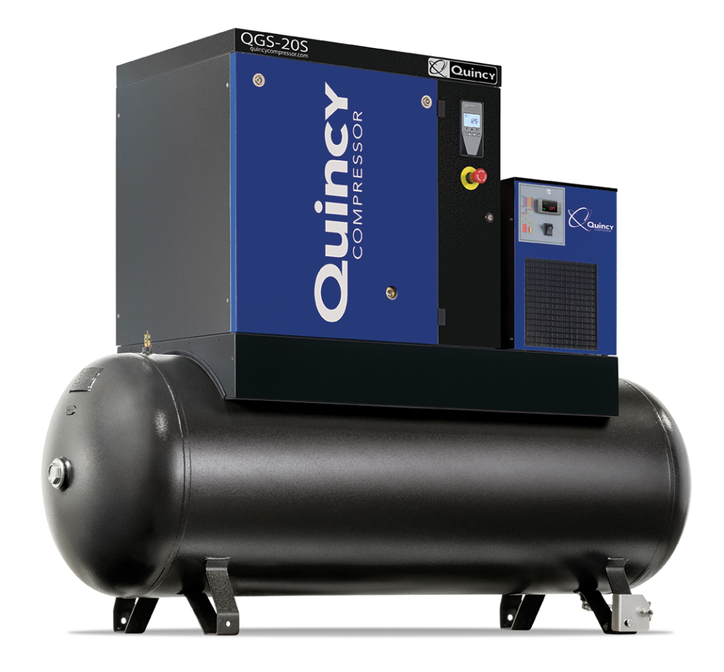 Quincy QGS 20S oil-flooded rotary screw air compressor
