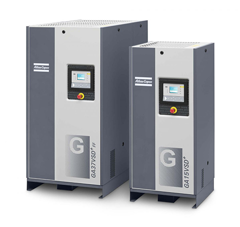 Atlas Copco tankless rotary screw air compressor
